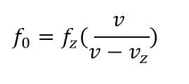 efekt dopplera - wzór